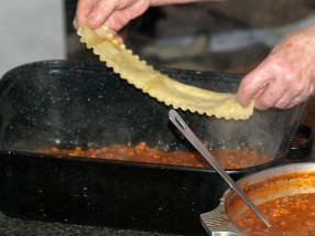Preparing Lasagna Step 3
