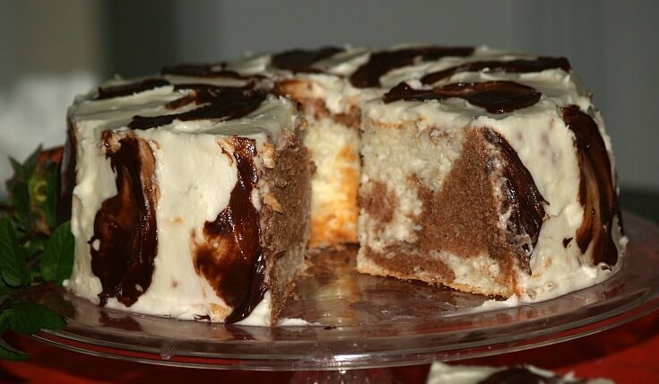 Marble Angel Food Cake Recipe