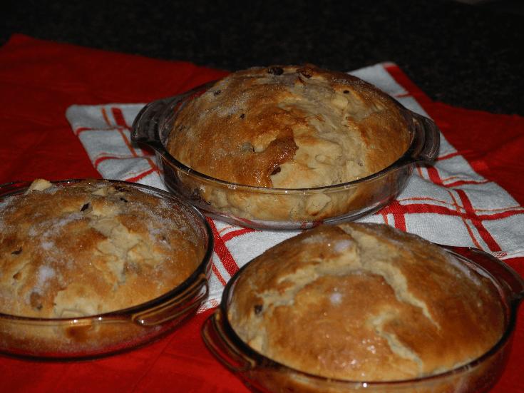 Three Loaves of Apple Raisin Bread Recipe