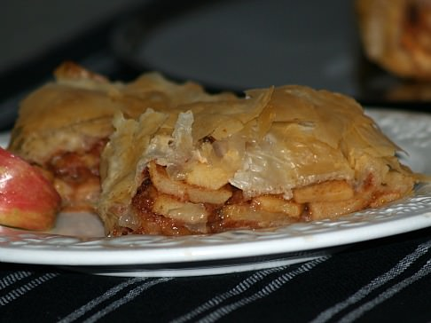 Apple Strudel made with Phyllo Pastry