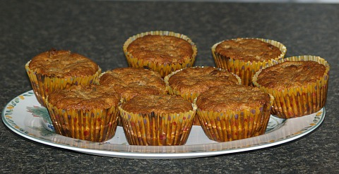 Applesauce Raisin Muffins