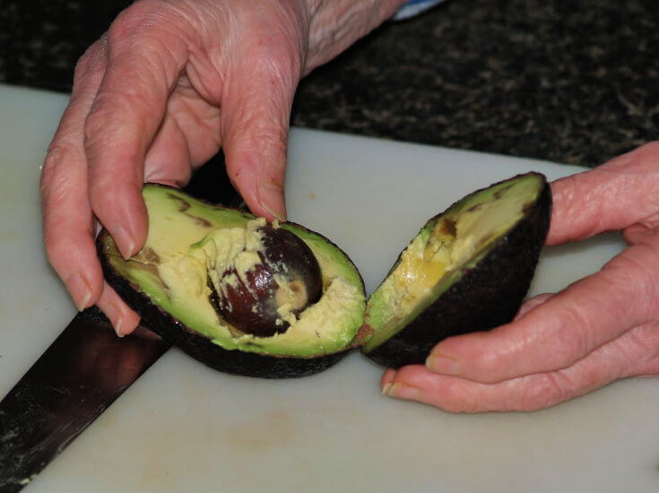 Cutting an Avocado
