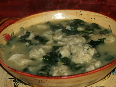 Bacon Dumpling Spinach Soup Recipe