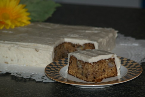 banana cake recipe with banana frosting