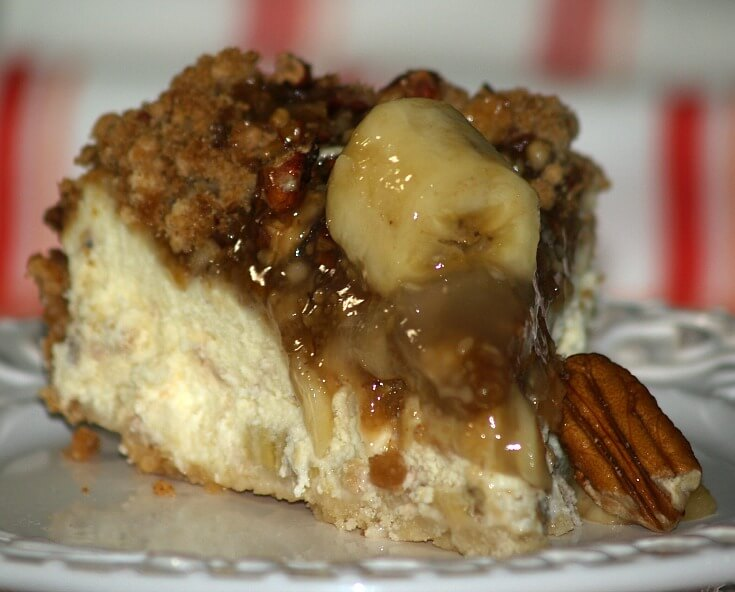 Caramel Pecan Banana Cheesecake Recipe