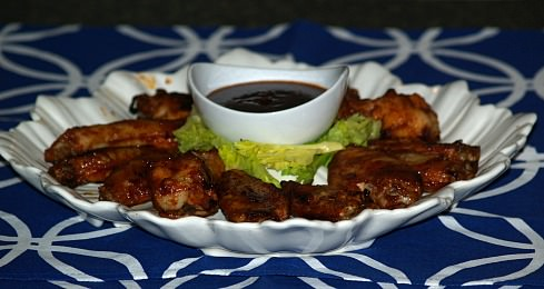 barbeque chicken wings