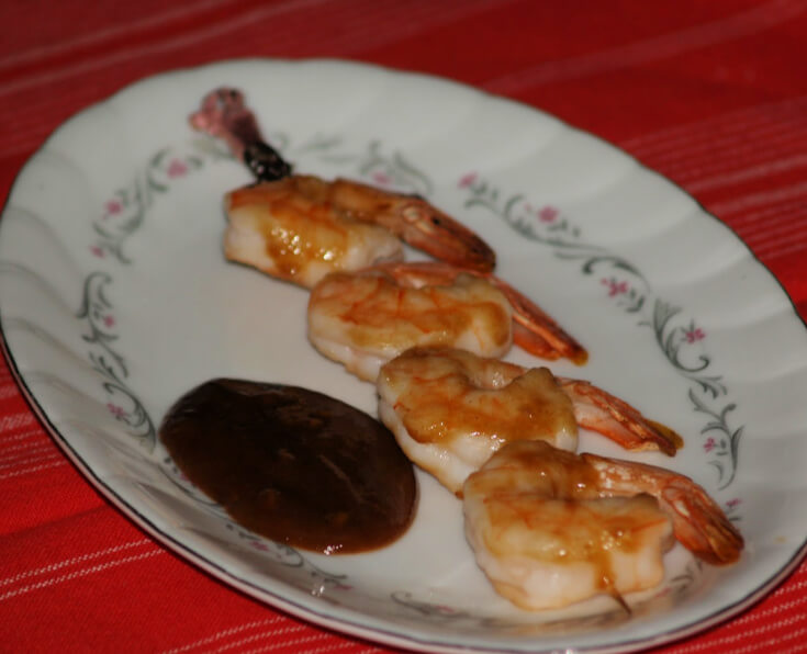 Grilled Shrimp in Peanut Sauce