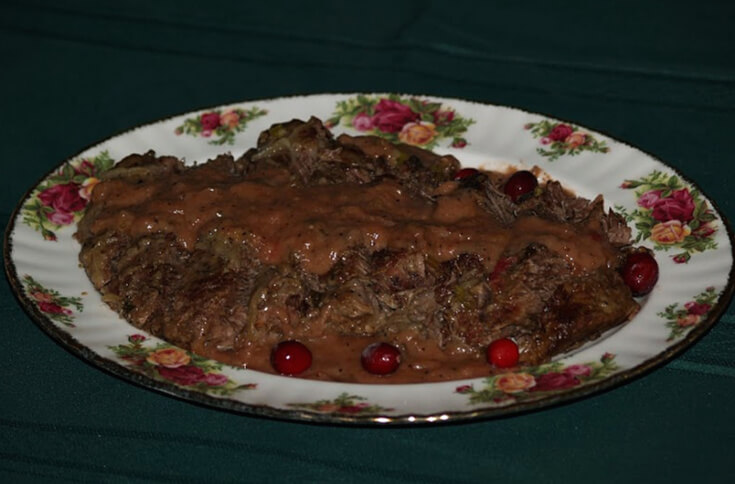 Beef Pot Roast with Cranberry Gravy
