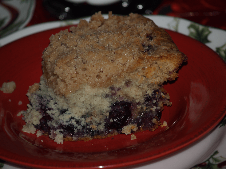Blueberry Buckle Coffee Cake Piece