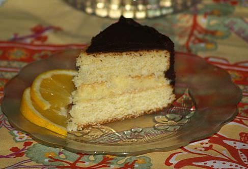 Orange Flavored Boston Cream Pie