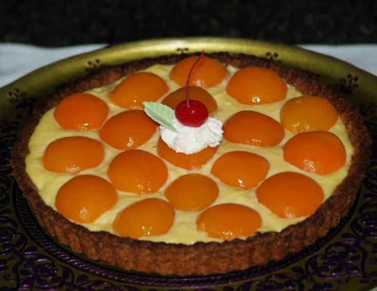Apricot Custard Filled Tart