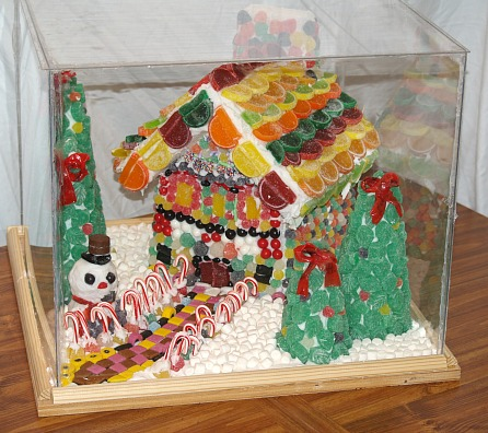 Christmas Candyland Covered with Plexiglass