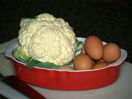 cauliflower and eggs