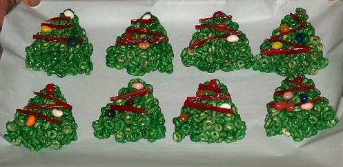 Cheerios Christmas Tree Cookies