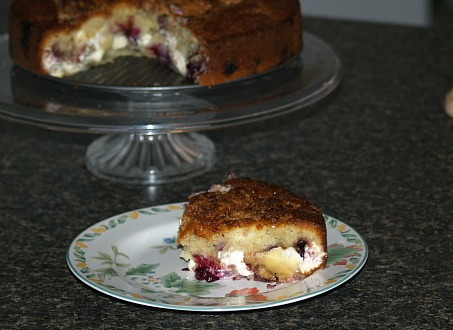 Blueberry Coffee Cake with Cream Cheese