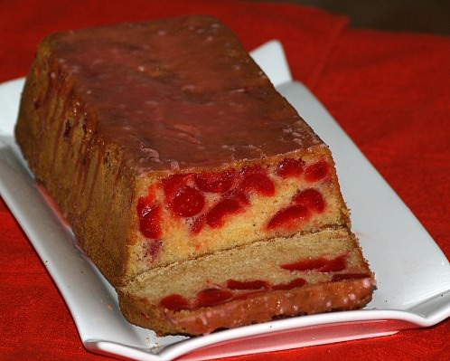 Cherry Bread Recipe with Glaze