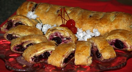 Cherry Cheese Filled Strudel