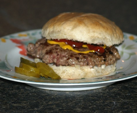 Chewy Bun with Hamburger