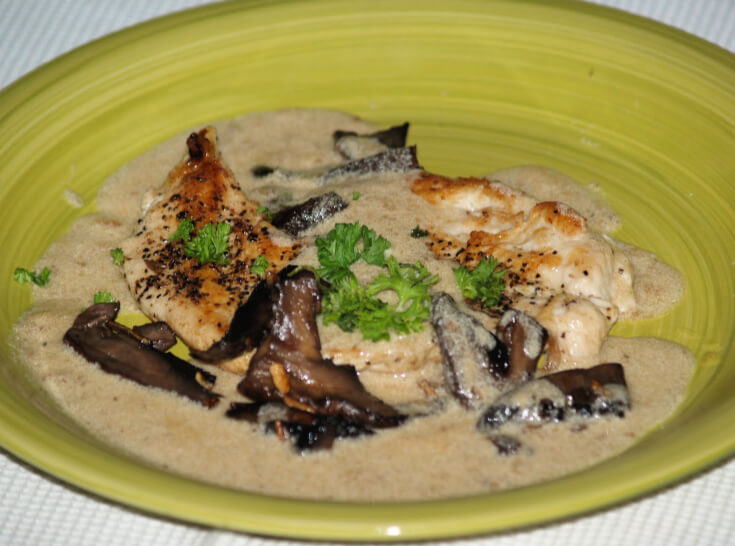 Chicken Cutlets with a Creamy Mushroom Sauce