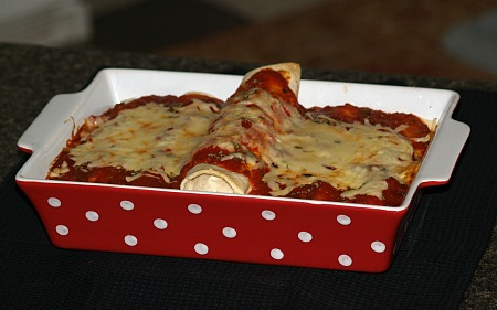 ground chicken enchilades