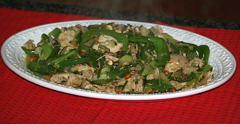 Ground chicken stir fry
