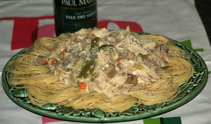 Chicken Tetrazzini Recipe made in a Pot