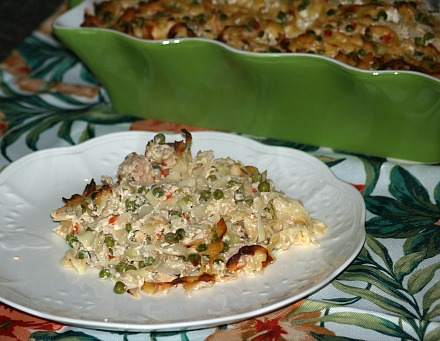 Serving of Tuna Noodle Casserole Recipe