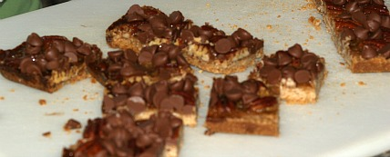 Turtle Bar Cookies are Chocolate Caramel Cookies