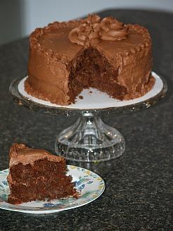 Sauerkraut Chocolate Layer Cake with a Milk Chocolate Frosting