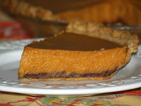 Chocolate Lined Pumpkin Pie