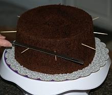 Chocolate Mint Cake Recipe Assemble Step 2