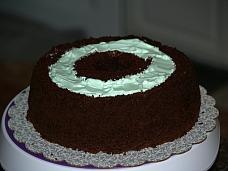 Chocolate Mint Cake Recipe Assemble Step 6