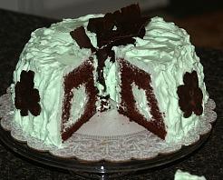 Chocolate Mint Cake Recipe Finished