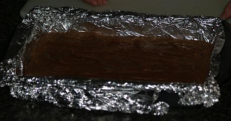 Chocolate Peanut Butter Fudge in Pan