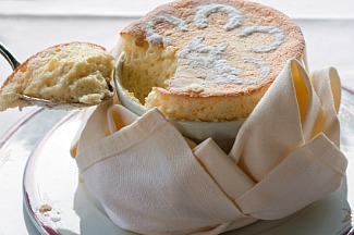 white chocolate souffle