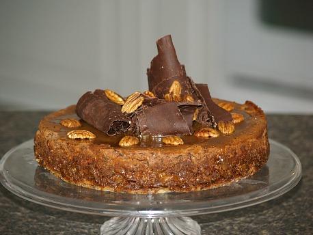 how to make chocolate turtle cheesecake recipe