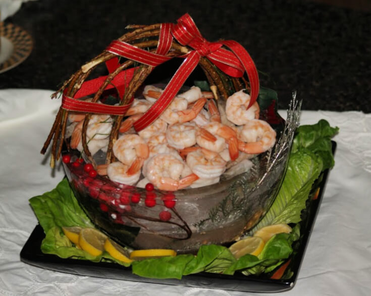 Ice Basket with Shrimp