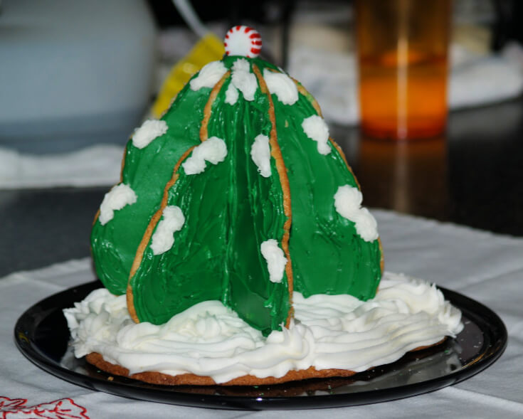 Classic Refrigerator Sugar Cookie Dough Baked in a Christmas Trees
