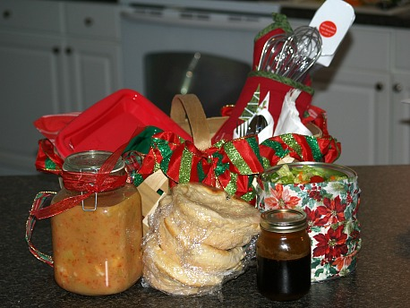 how to make christmas food gift basket