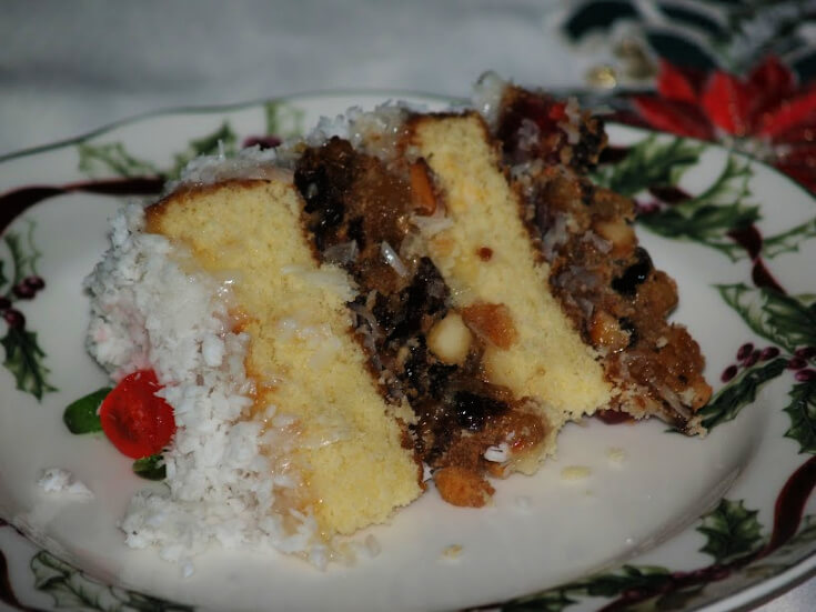 Asian Fruit Cake Recipe Piece