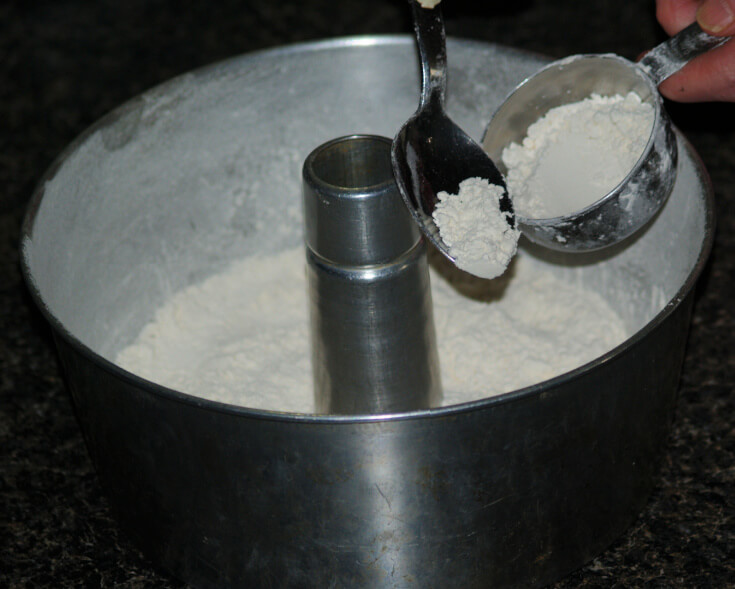 Spoon Flour Over Bottom of the Pan