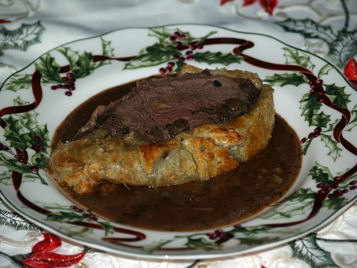 Beef Wellington Serving