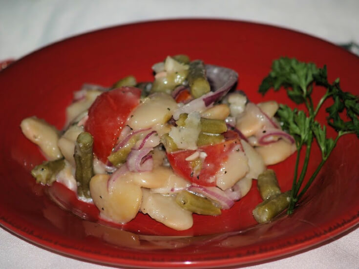 Green and White Bean Salad Recipe Serving