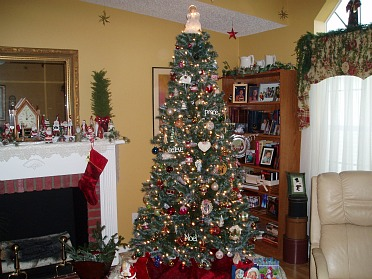 holiday recipes are celebrated with decorations and lighted trees
