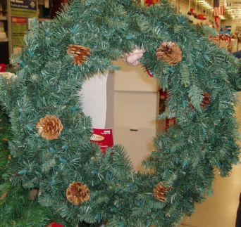 simple homemade christmas gift wreath