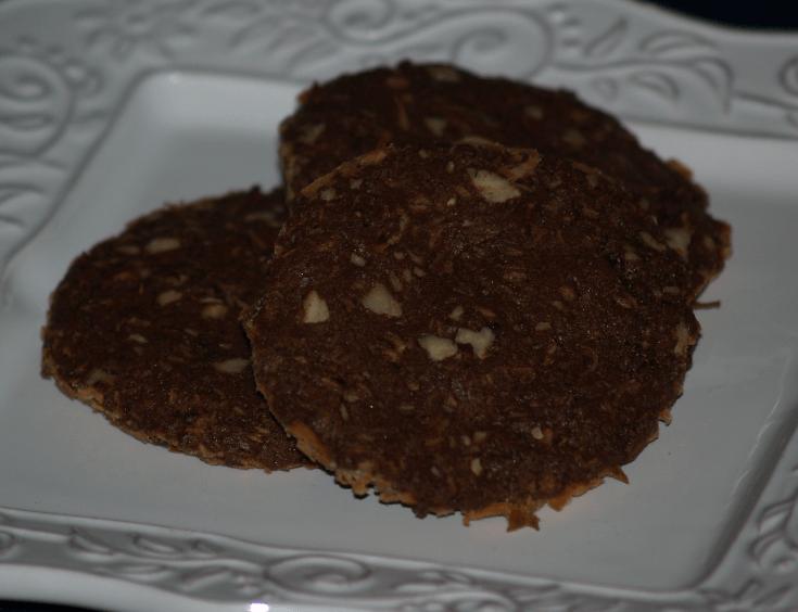 Coconut Chocolate Pecan Crisps