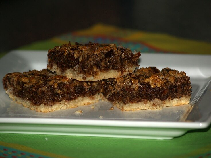 Coconut Date Nut Square Recipe