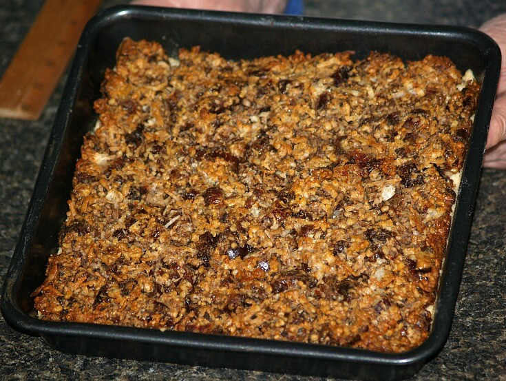 Coconut Date Nut Bars Fresh From the Oven