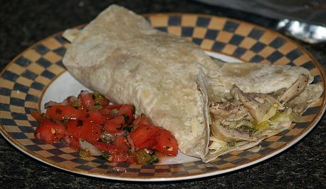 How to cook a Chicken burrito recipe
