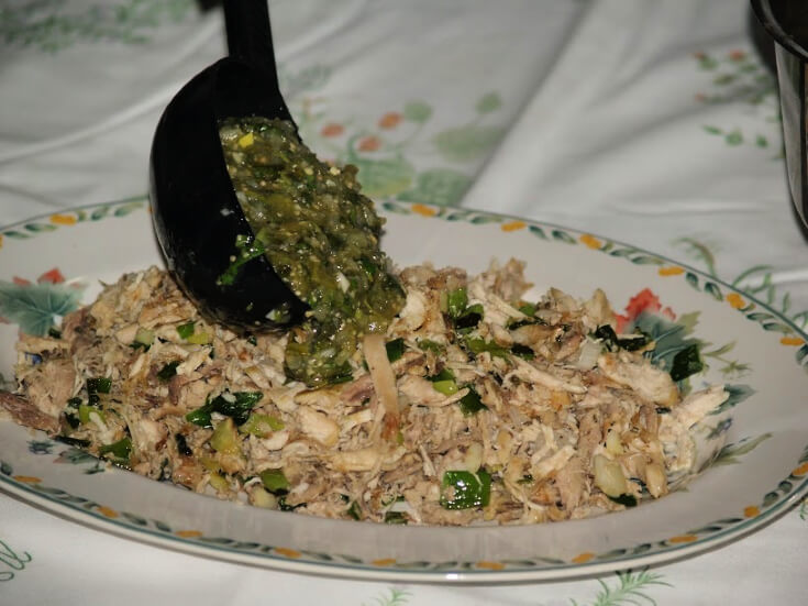 Shredded Chicken in Cilantro Sauce